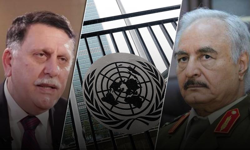 حفتر والسراج والأمم المتحدة