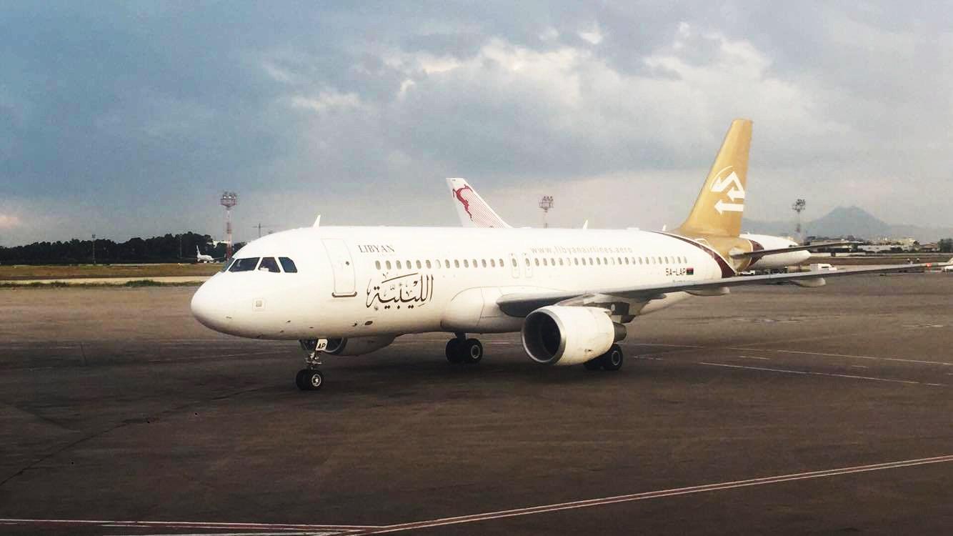 طائرة الخطوط الليبية