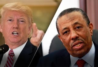 عبدالله الثني و دونالد ترامب