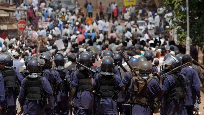 مظاهرات اوغندا