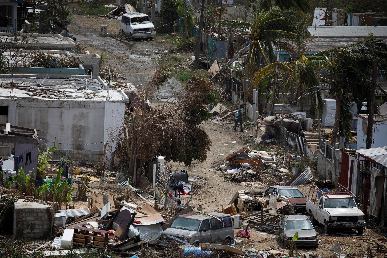 صورة لأضرار العاصفة