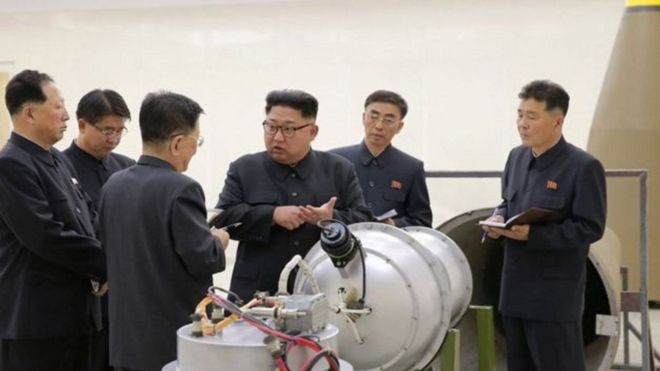 قنبلة كوريا الشمالية