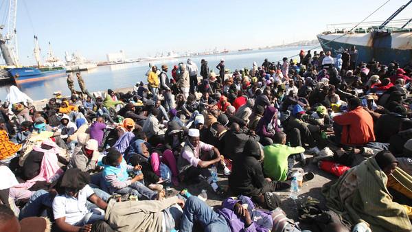 المهاجرين السودانين