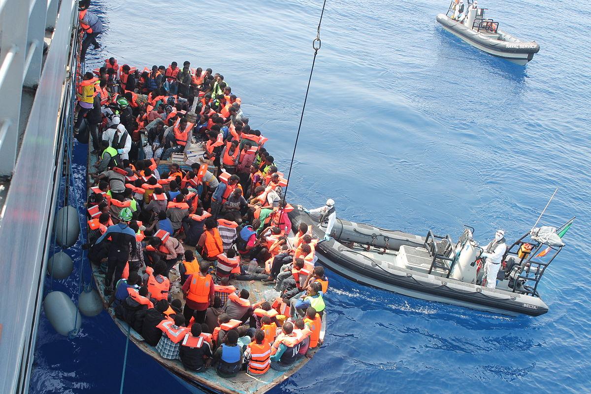 صورة المهاجرين الى أوروبا