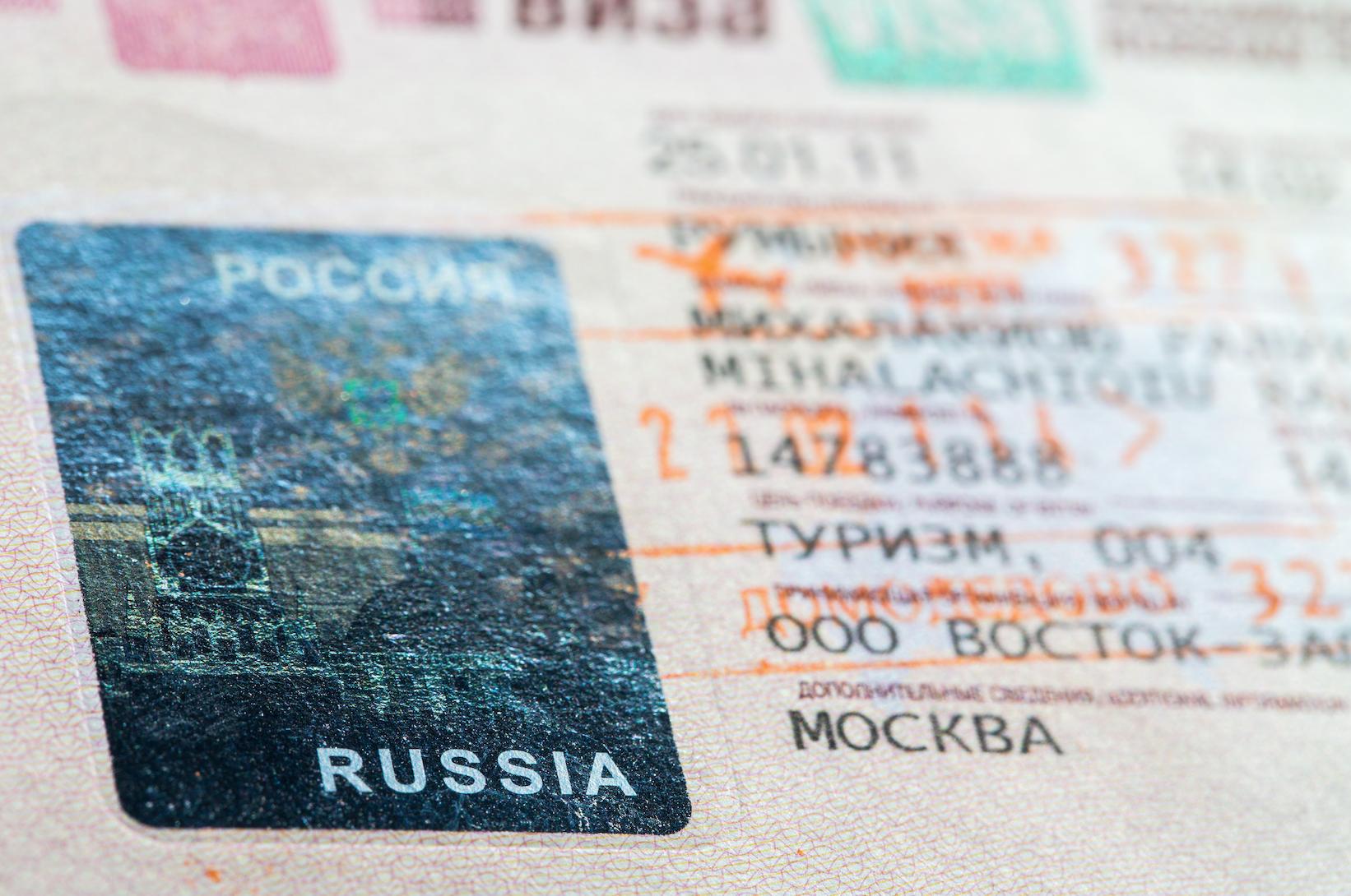 التأشيرة الروسية