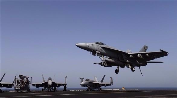 إحدى طائرات التحالف العسكري