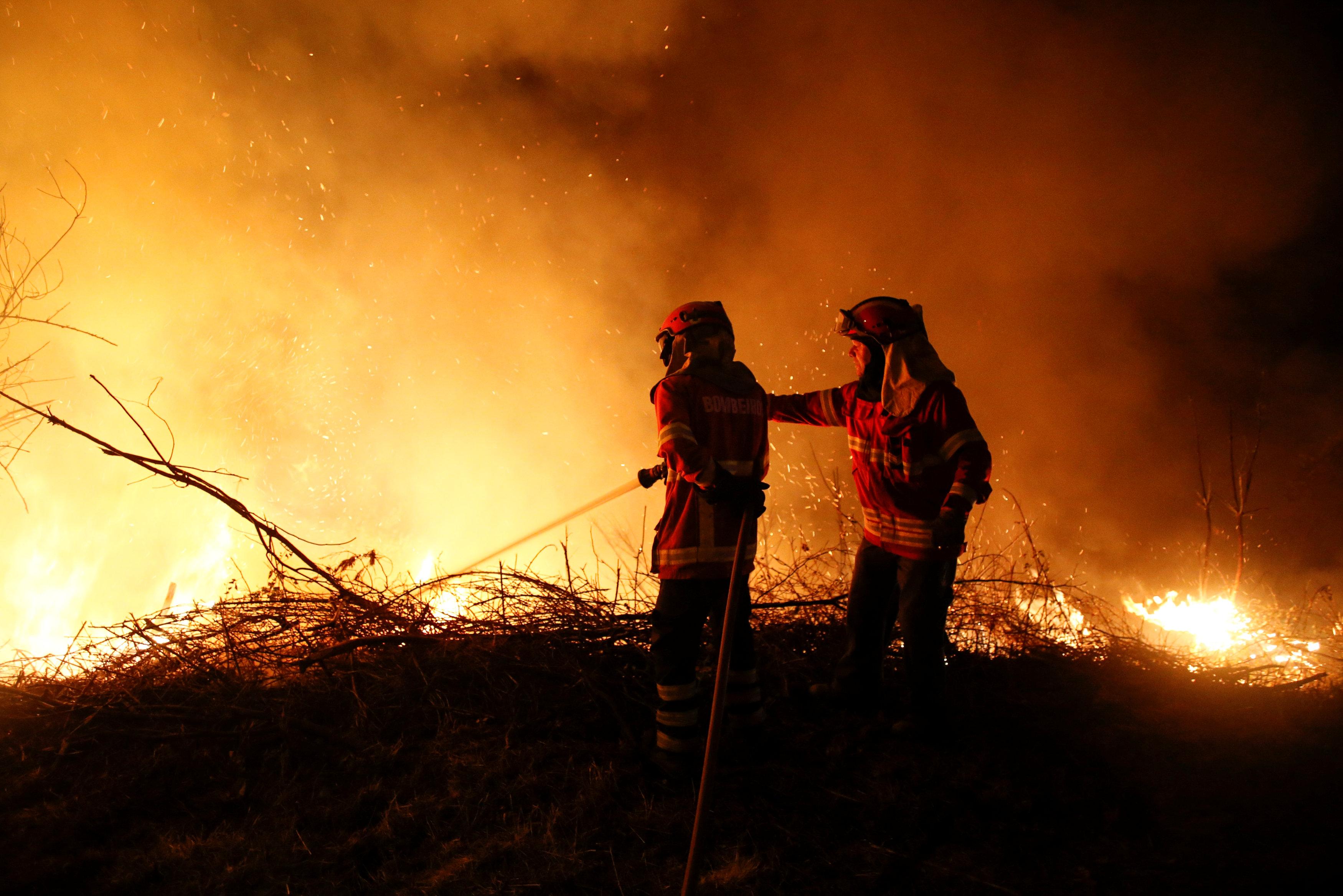 الحرائق في البرتغال