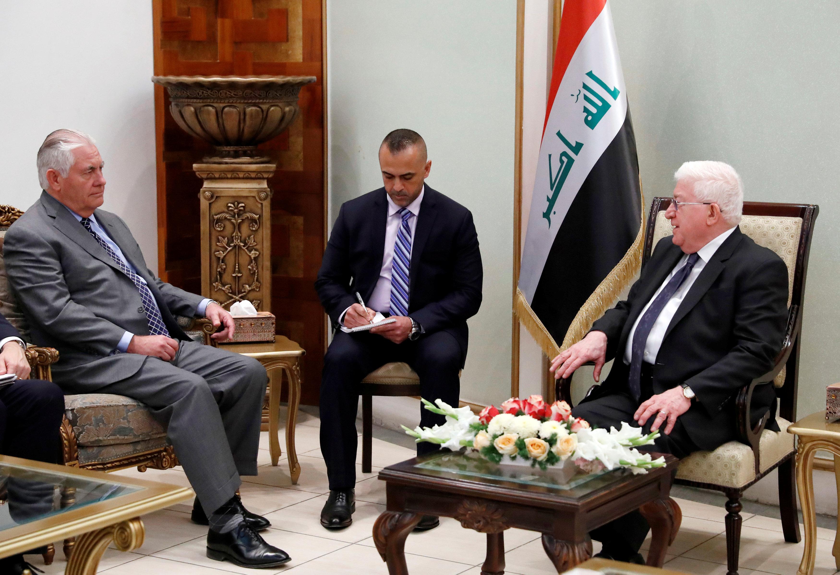 تيلرسون في العراق