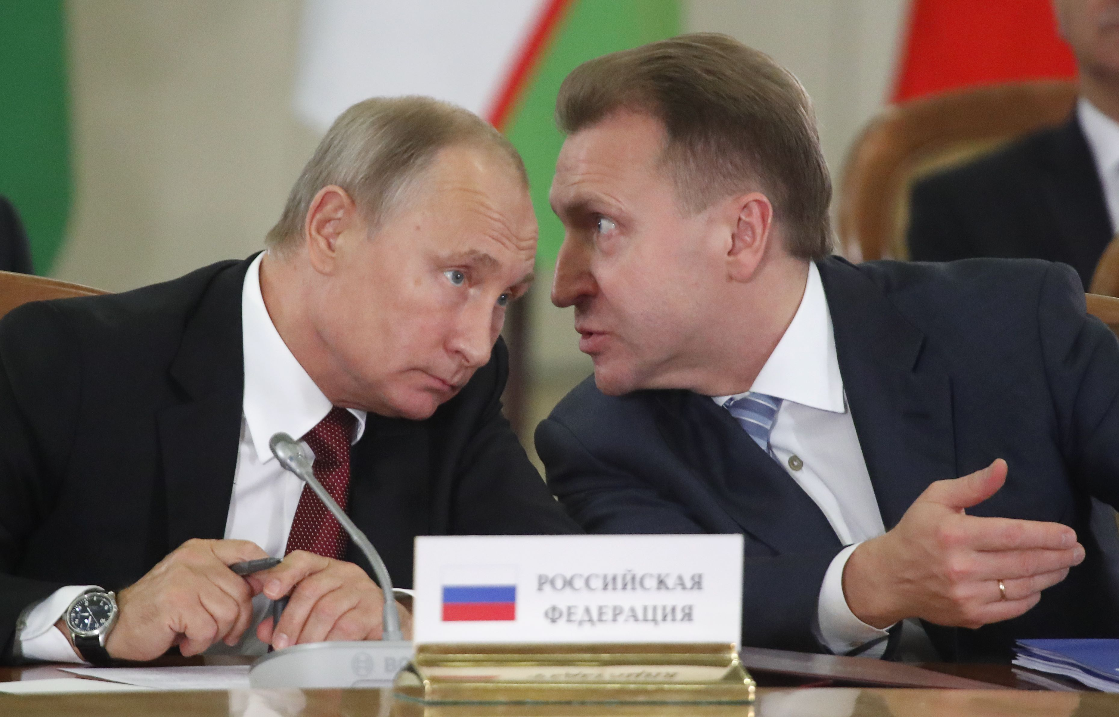 إيغور كوناشينكوف و فلاديمير بوتين