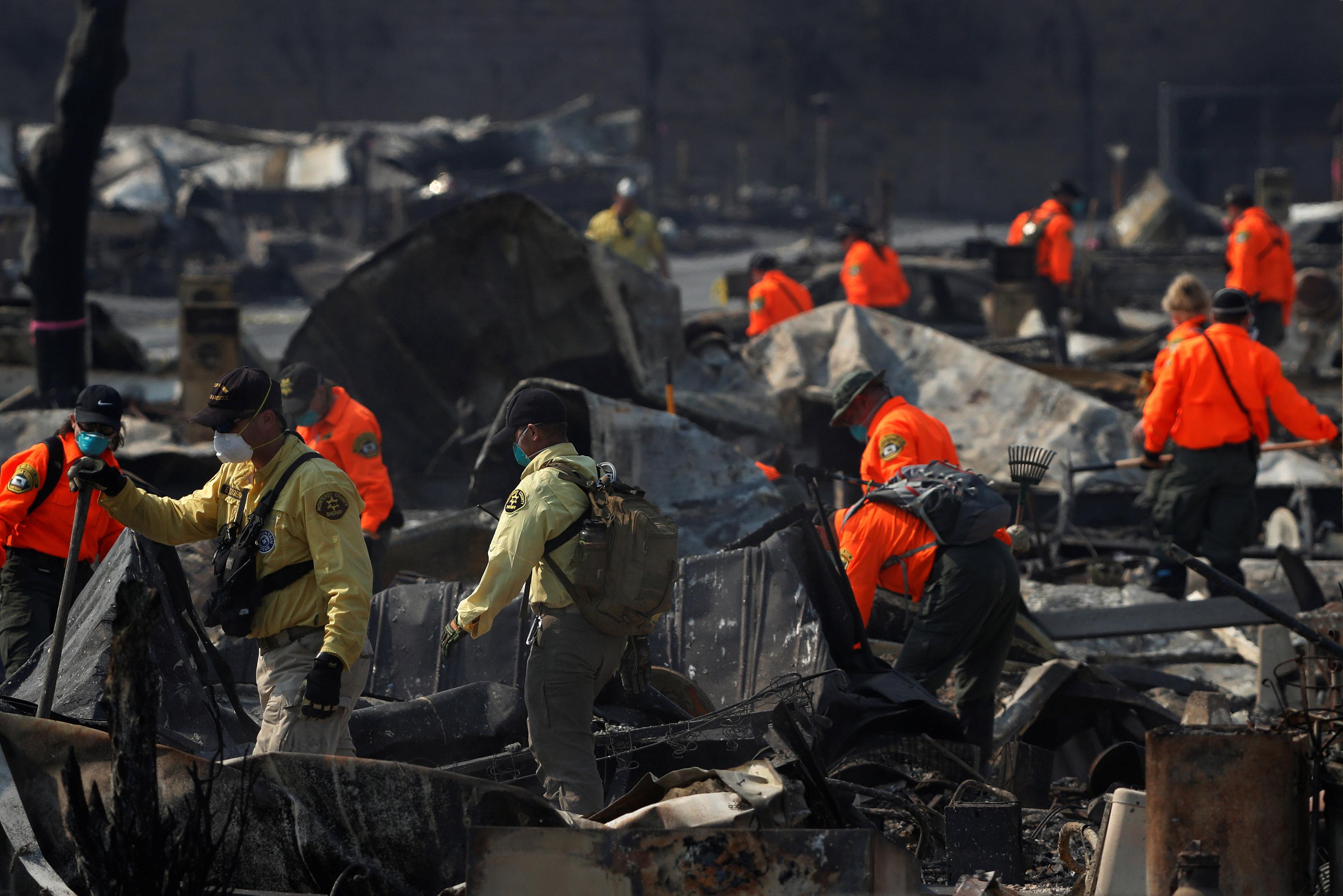 أثار حرائق كاليفورنيا