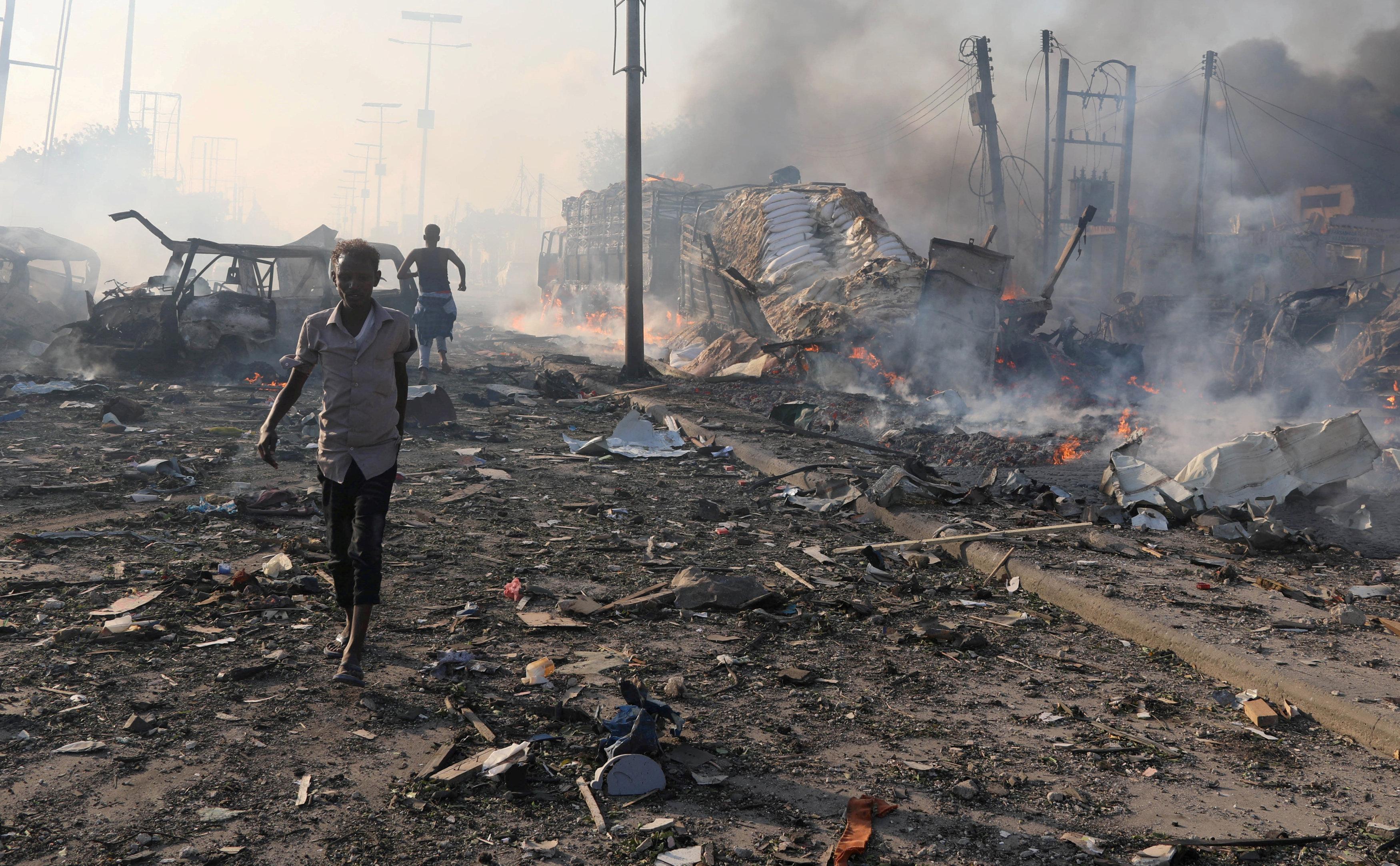 انفجار قنبلة في مقديشيو