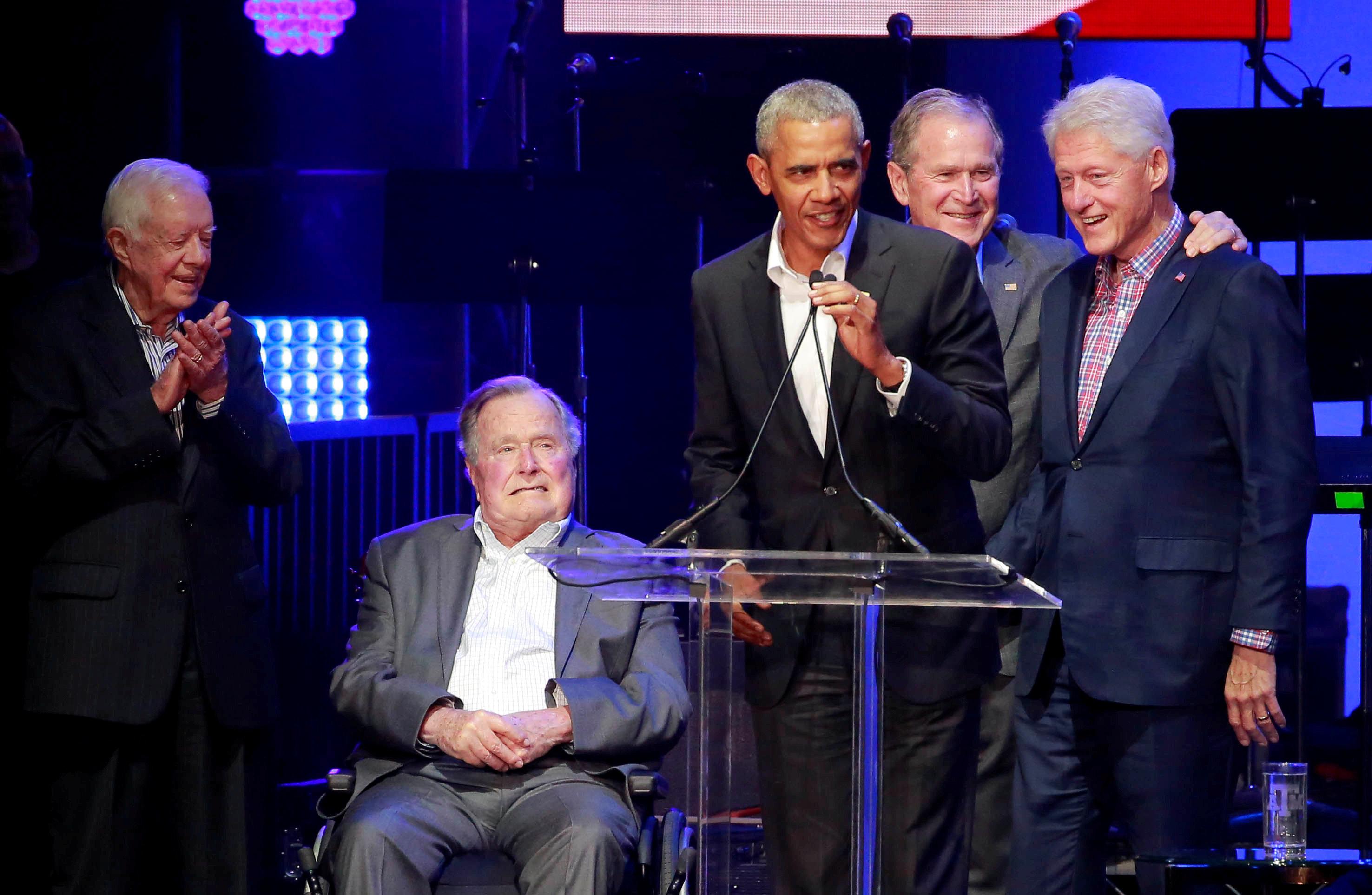 خمسة رؤساء أمريكيين