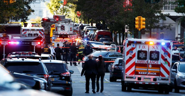 حادث دهس وإطلاق نار في مانهاتن
