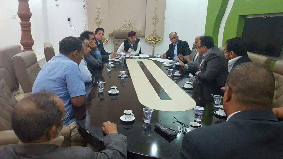 عقيلة صالح و مسؤولي شركات ليبيا للنفط