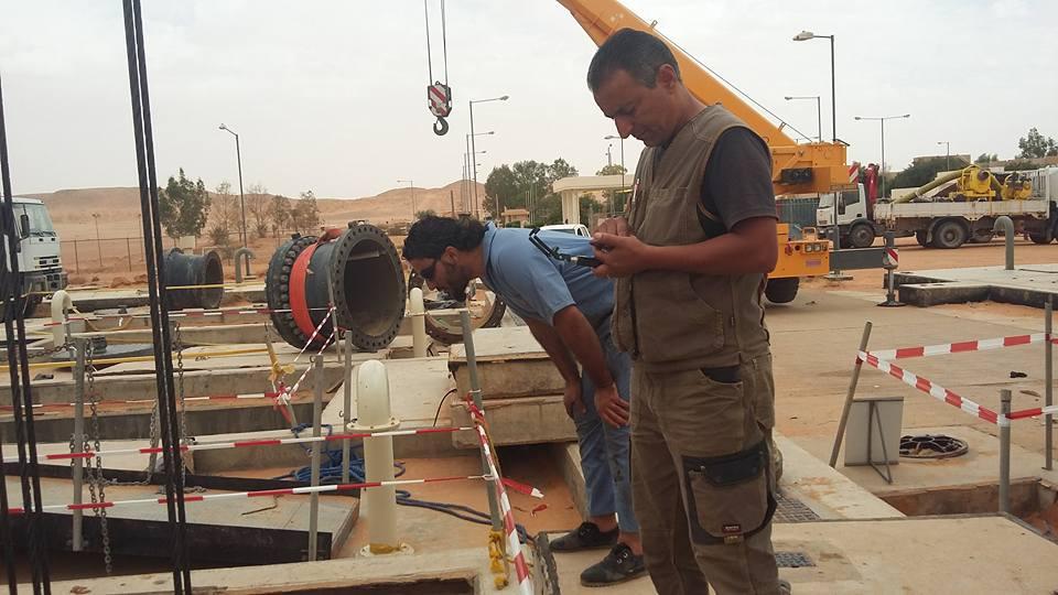 أعمال الصيانة بمحطة الشويرف بمنظومة الحساونة سهل الجفارة