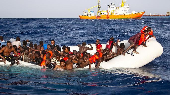 """صورة مخاوف من غرق """"عدد كبير"""" من المُهاجرين قبالة ليبيا"""