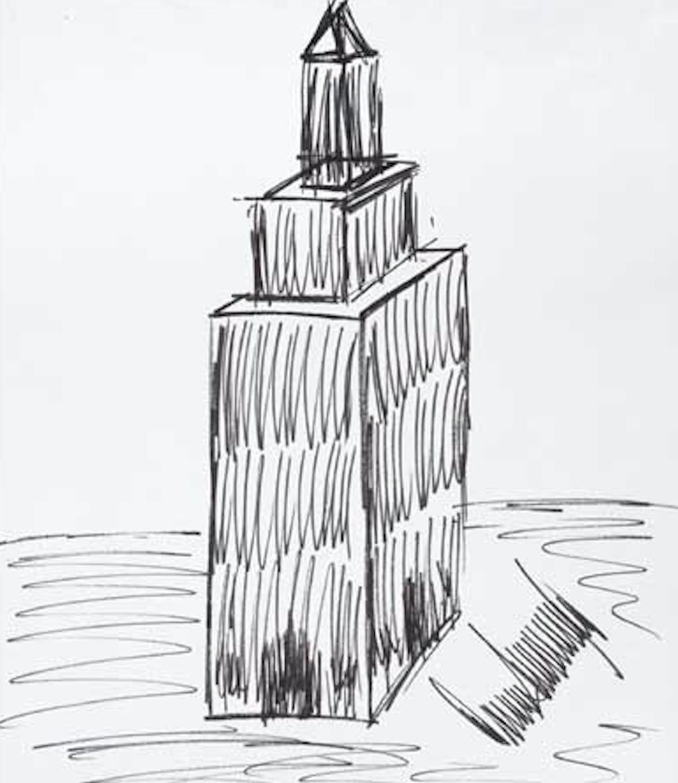 رسم مبنى إمباير ستيت