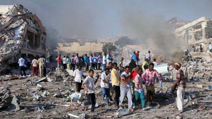 ضحايا التفجير الذي حدث في مقديشو