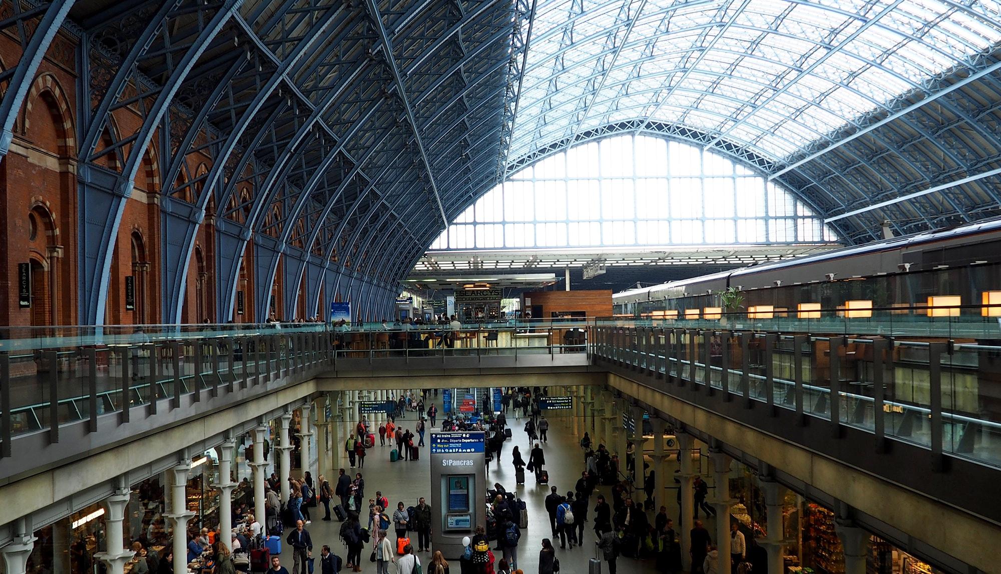 محطة قطارات في لندن