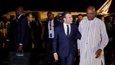 الرئيس في الفرنسي ماكرون في بوركينا فاسو