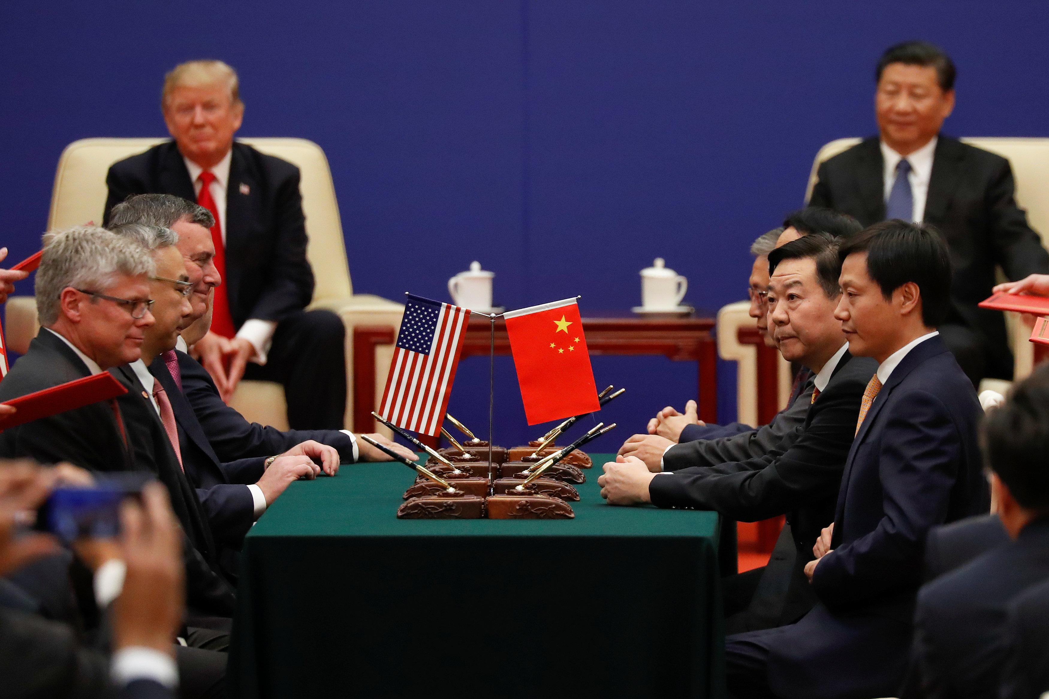 الصفقات الاقتصادية بين أمريكا والصين