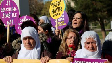 نساء يتظاهرن في شوارع اسطنبول ضد العنف