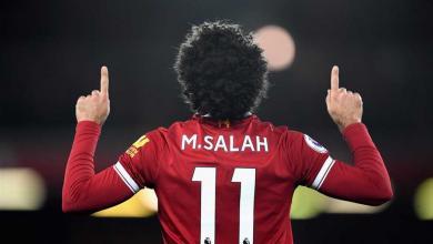 لاعب نادي ليفربول الإنجليزي محمد صلاح