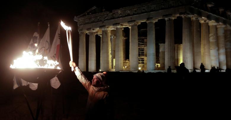 الشعلة الأولمبية بيونغ تشانغ 2018