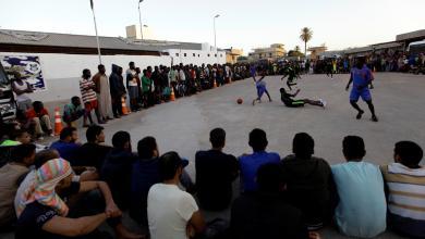 "Photo of ""كرة القدم"" بأقدام ""المهاجرين"" في ""طرابلس"""