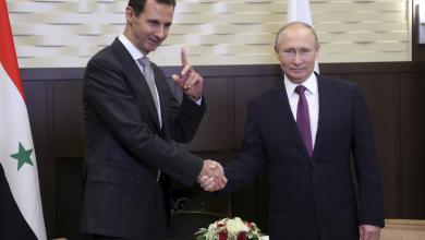 الرئيس الروسي فلاديمير بوتين نظيره السوري بشار الأسد