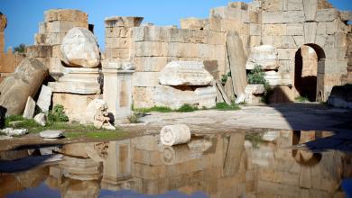 الآثار الحجرية والرخامية في مدينة لبدة الكبرى التاريخية
