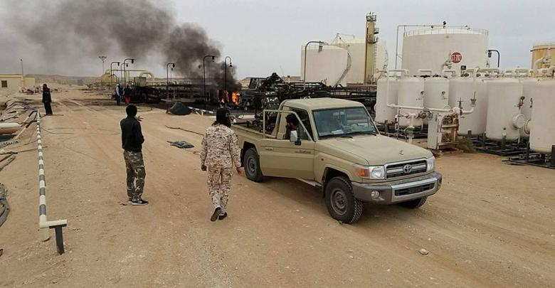 حريق شركة الهروج للعمليات النفطية