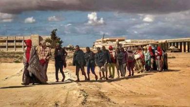 الكتيبة 21 مشاة التابعة للجيش الليبي ضبطت عددا من المهاجرين غير القانونيين