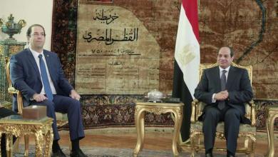 عبدالفتاح السيسي ويوسف الشاهد