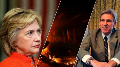هيلاري كلينتون والسفير الأمريكي السابق في ليبيا