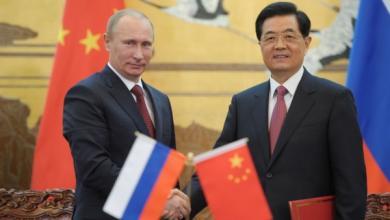 الرئيس الصيني شي جين بينغ والرئيس الروسي فلاديمير بوتين
