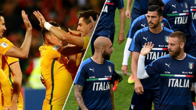 صورة إيطاليا على مرمى حجر من الخروج وأستراليا تعود بتعادل ثمين