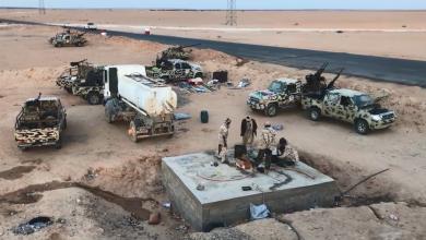 قوات غرفة العمليات الأمنية المشتركة حوض مرزق المُتمركزة ببوابة السدرة بمنطقة أم الأرانب