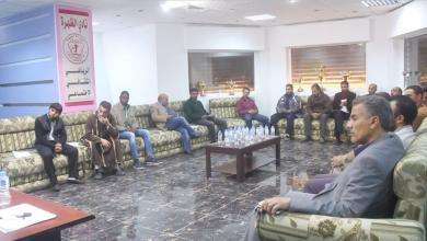 Photo of مكتب الرياضة ببني وليد يجتمع مع مدراء الأندية