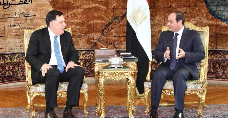 عبدالفتاح السيسي وفايز السراج