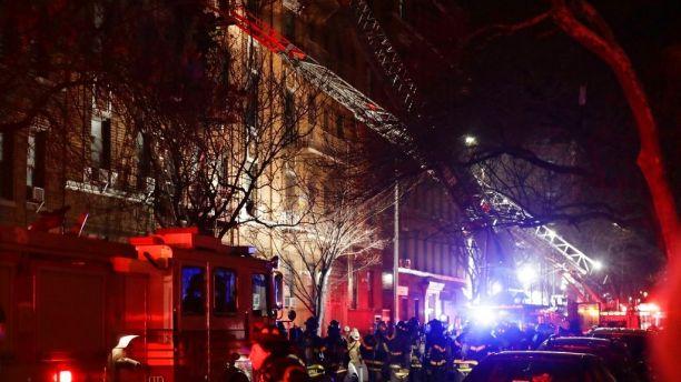 حريقٌ يلتهم مبنى في نيويورك