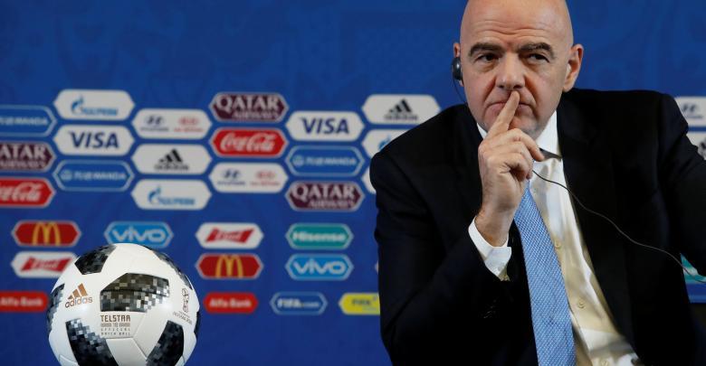 رئيس الاتحاد الدولي لكرة القدم فيفا جياني إنفانتينيو