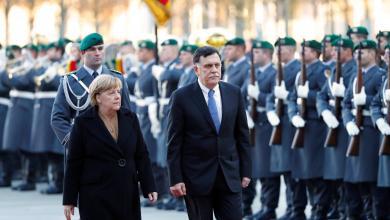 رئيس المجلس الرئاسي، فائز السراج و المستشارة الألمانية انجيلا ميركل