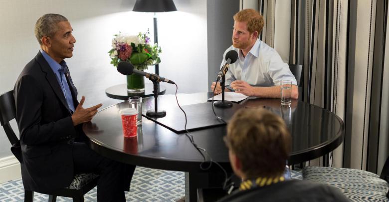 الأمير البريطاني هاري وباراك أوباما