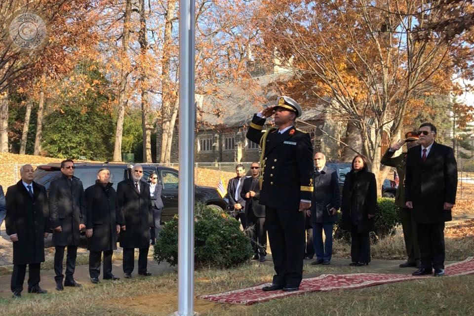 مراسم افتتاح المقر الجديد للسفارة الليبية بالعاصمة الأمريكية واشنطن