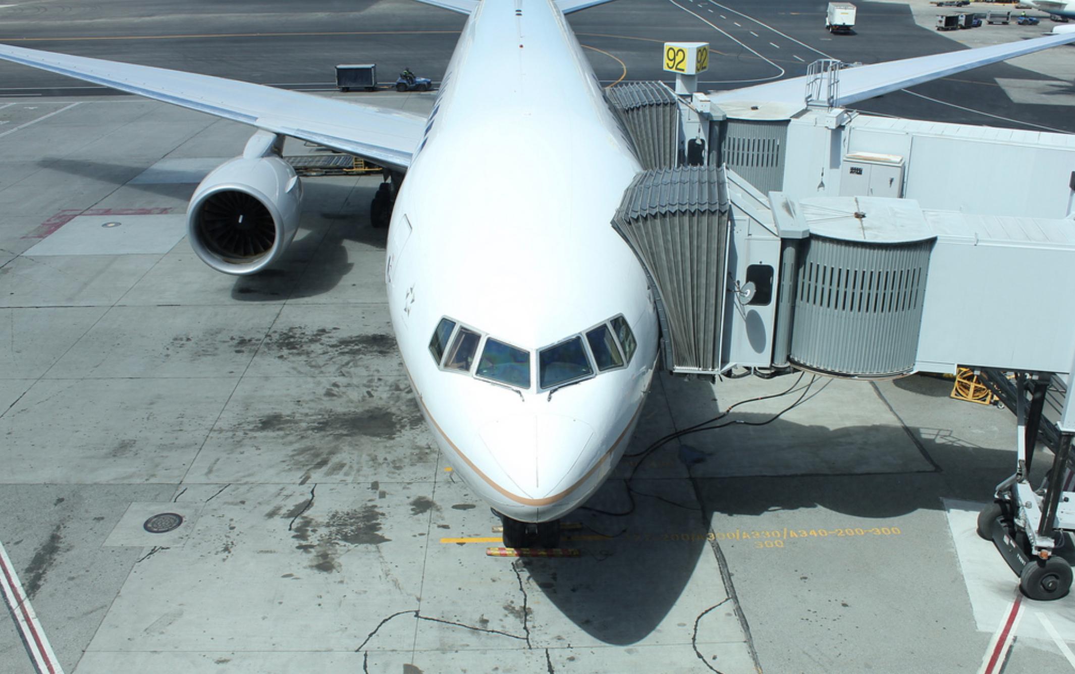 ركوب الطائرة