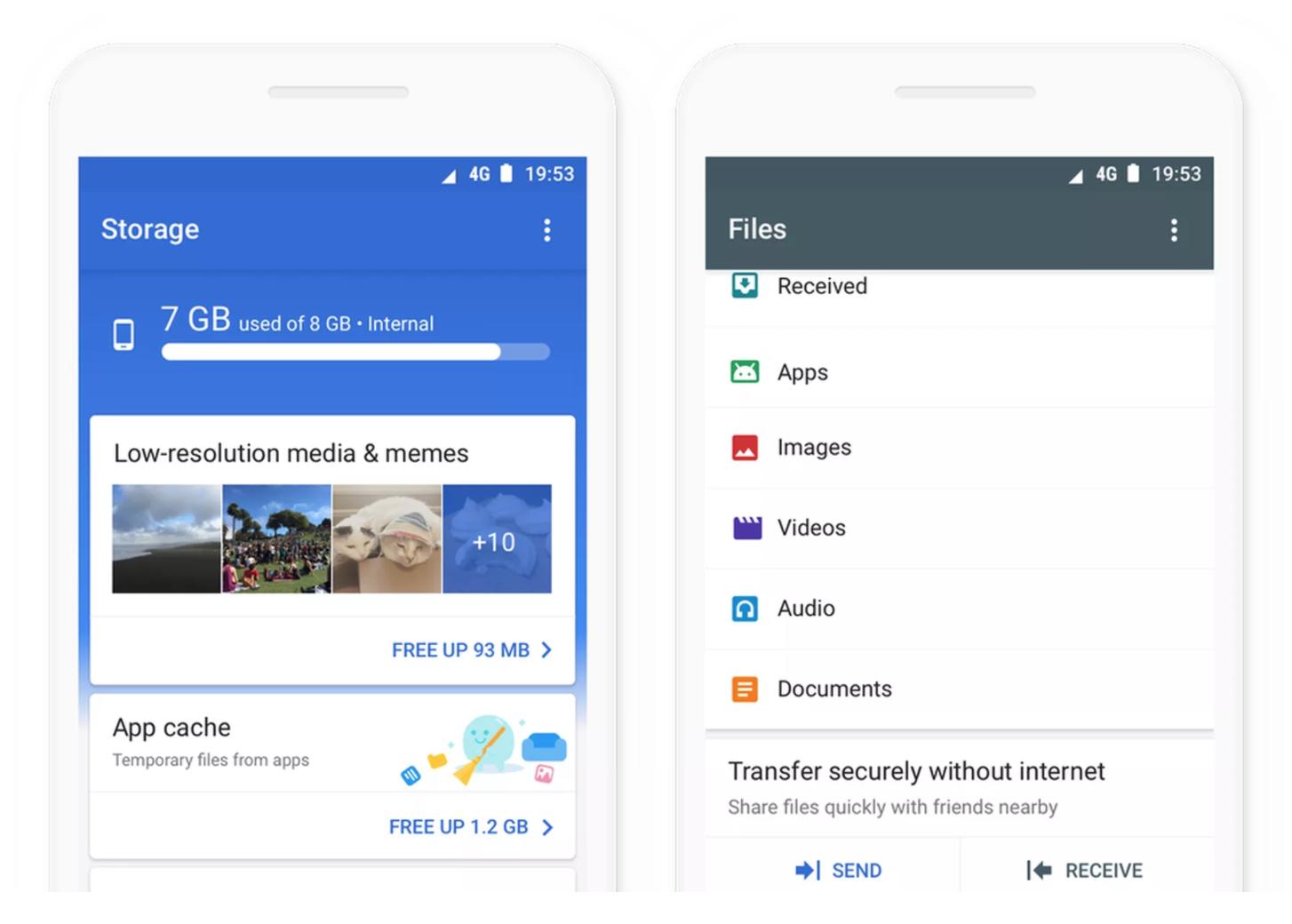 تطبيق Google files Go