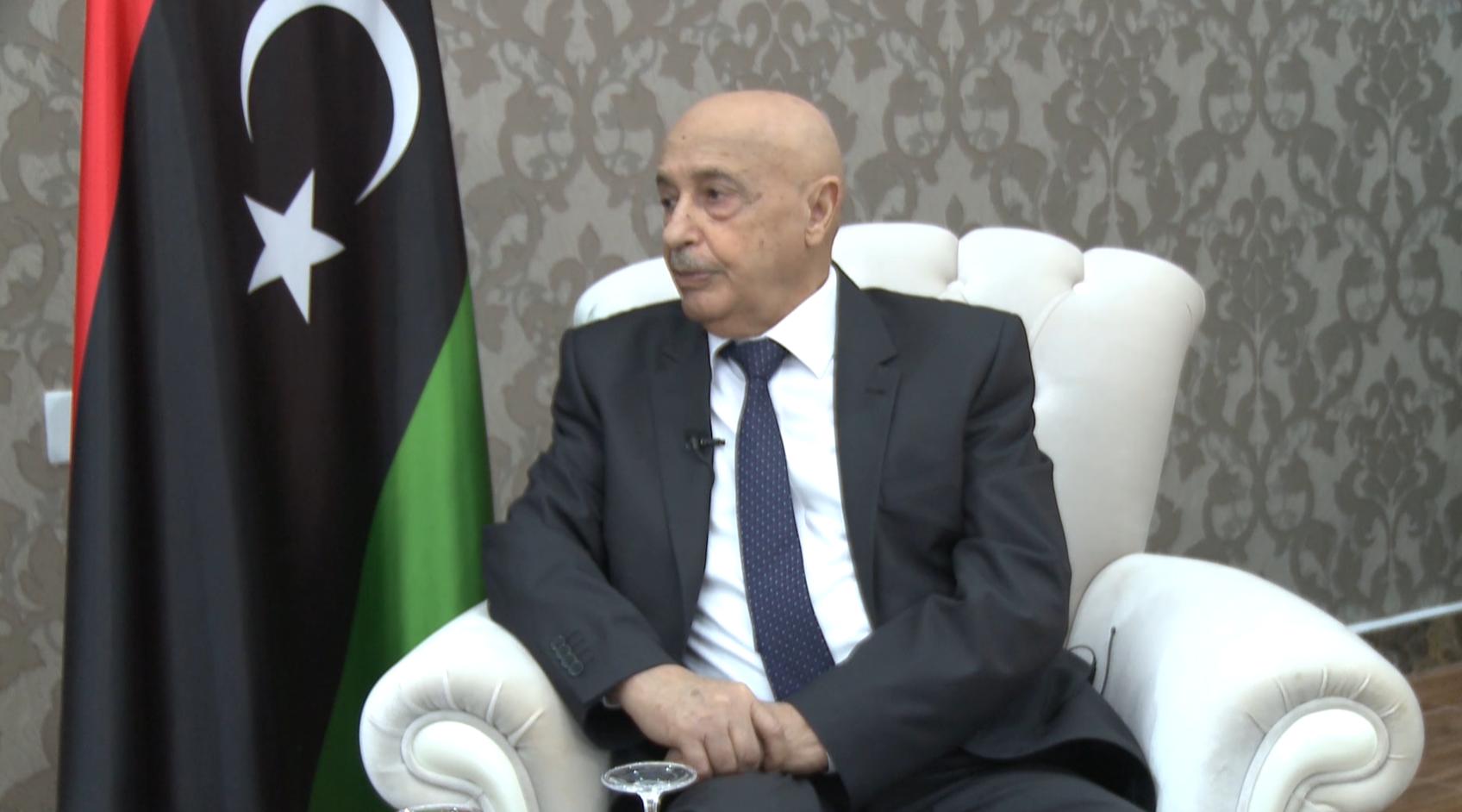 """عقيلة صالح يكشف لـ""""218 نيوز"""" موقفه من """"الاتفاق والسراج وحفتر"""""""