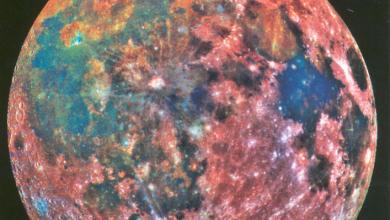 """صورة """"الألوان المزيفة"""" تكشف أسرار القمر"""