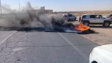 """صورة إطارات مشتعلة واحتجاجات في ودان بسبب """"أزمة الوقود"""""""